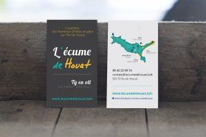 Cartes de visite – L'écume de Houat