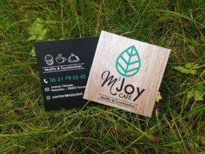 Logo et Carte de visite – M'Joy Café