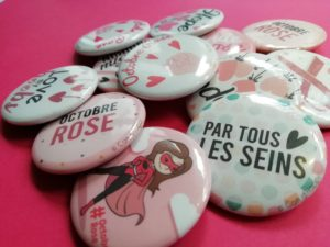 Badge Octobre Rose